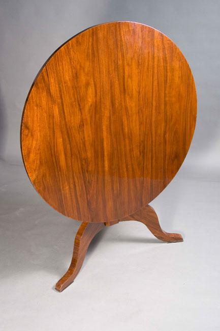 a gm 77 schlichter runder klapptisch klapp tisch biedermeier stil ebay. Black Bedroom Furniture Sets. Home Design Ideas