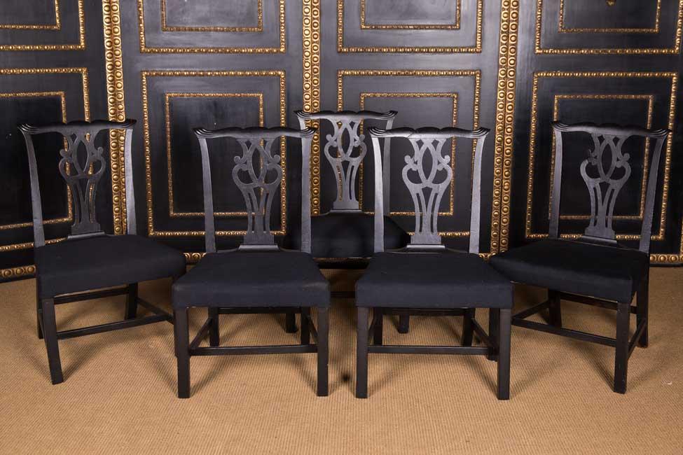 5 hermosa antiguo sillas singular estilo ebay - Sillas estilo ingles ...