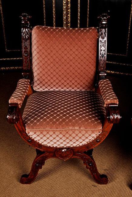 Gr nderzeit scheren armlehnstuhl holz st hle anktik um for Wohnlandschaft sitztiefe 90 cm