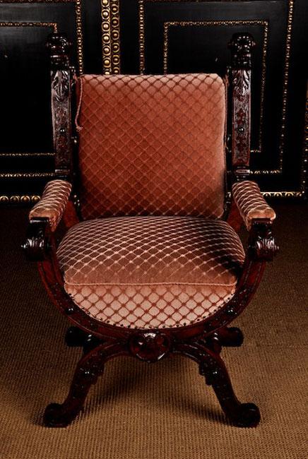Paar gr nderzeit scheren armlehnstuhl holz st hle anktik for Wohnlandschaft sitztiefe 90 cm