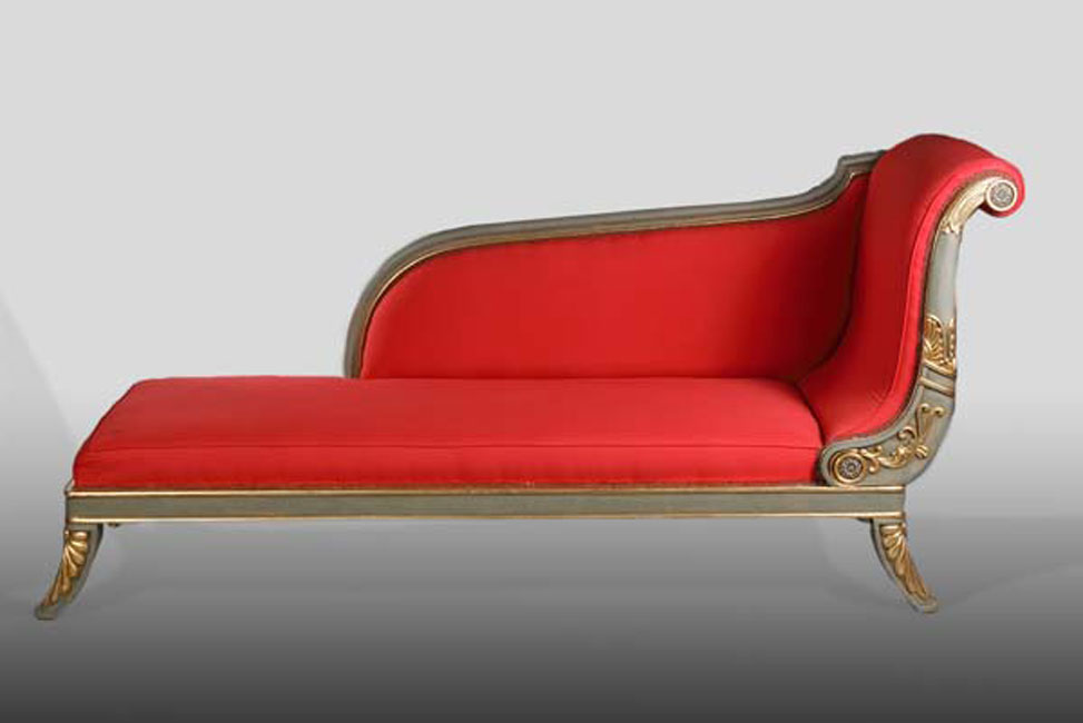 French chaise longue sofa in the empire style ebay for Chaise longue style sofa