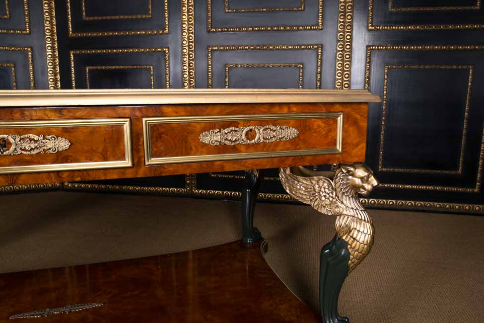 imperial french desk bureau plat with lions in the empire style ebay. Black Bedroom Furniture Sets. Home Design Ideas