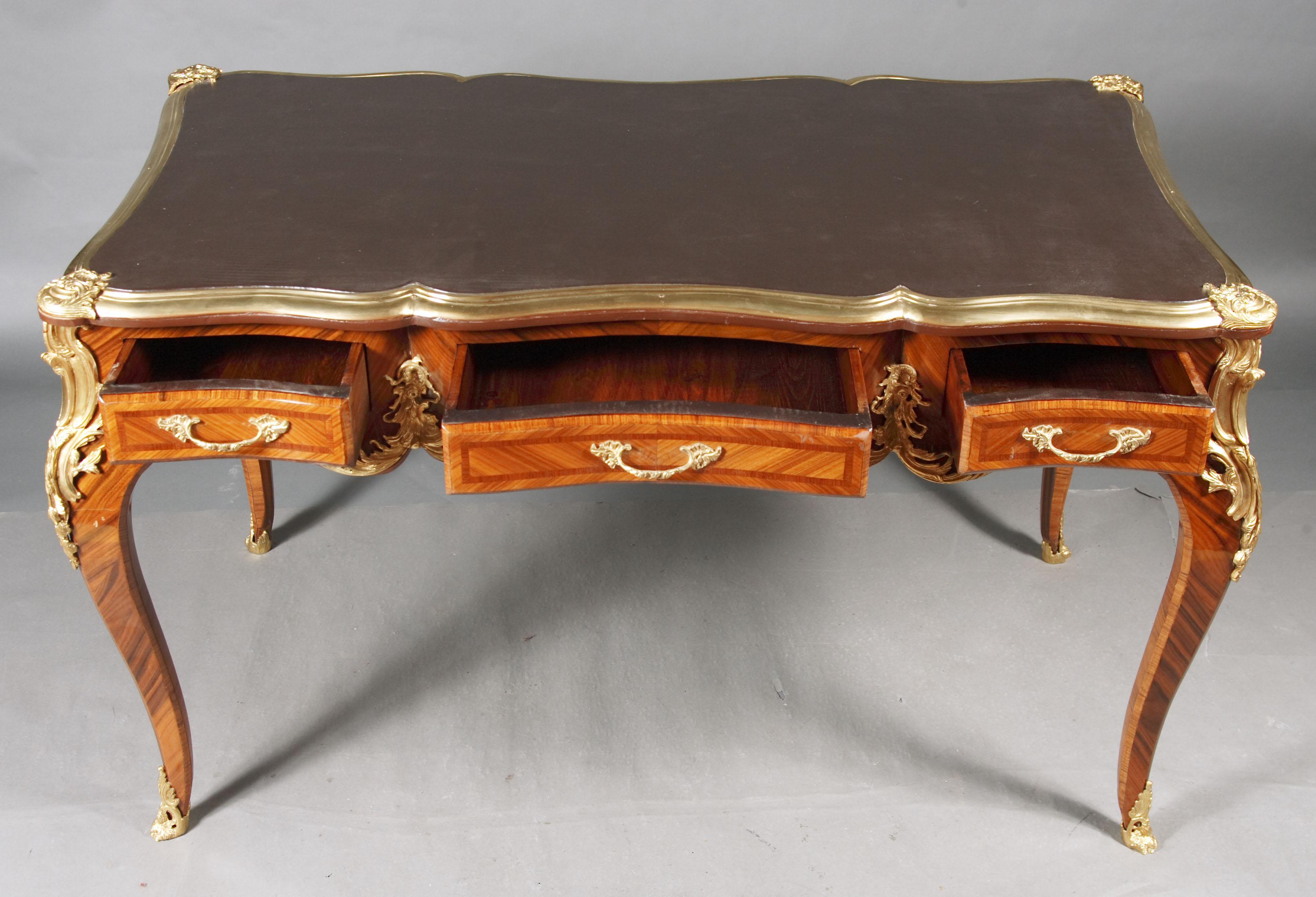 desk bureau plat in the louis xv style ebay. Black Bedroom Furniture Sets. Home Design Ideas