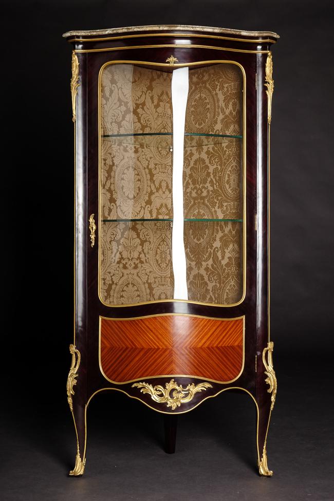 Exclusive francese salon vetrina da angolo im stile des for Angolo del louis