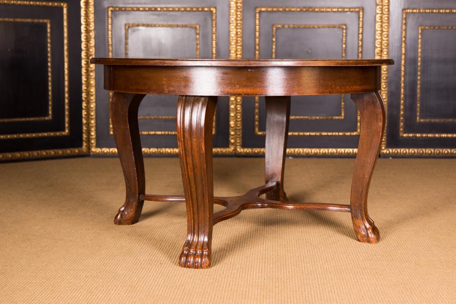 ausziehbarer herrenzimmer tisch mit tatzenf ssen um 1900 ebay. Black Bedroom Furniture Sets. Home Design Ideas