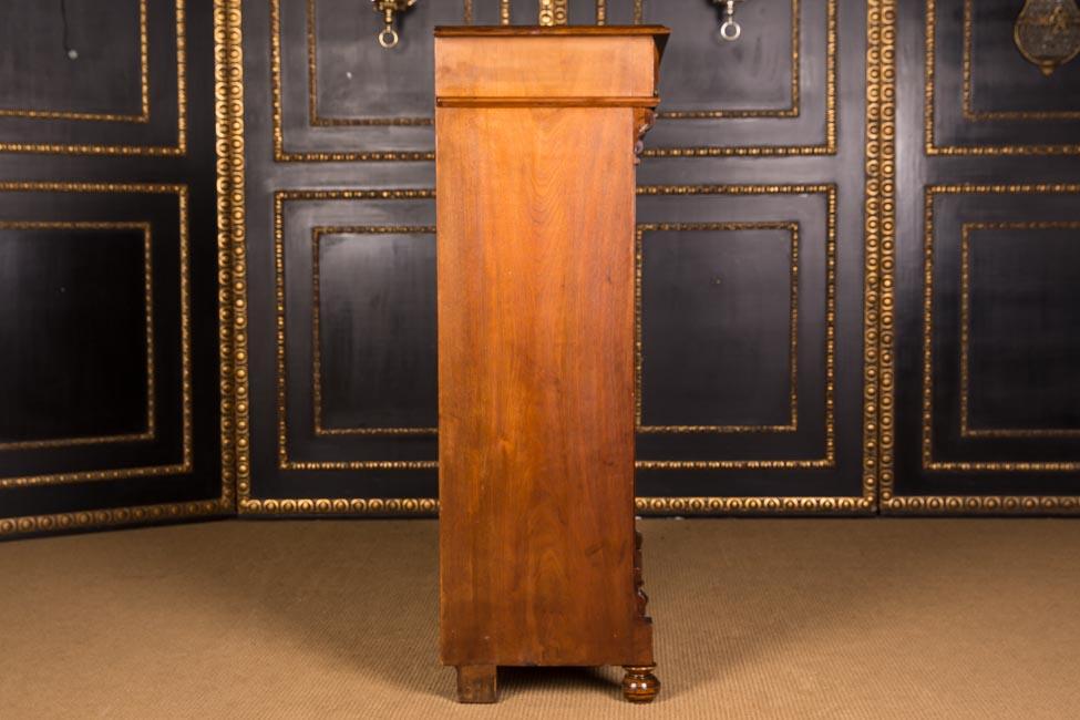 sch nes antikes gr nderzeit vertiko schrank 1880 nussbaum ebay. Black Bedroom Furniture Sets. Home Design Ideas
