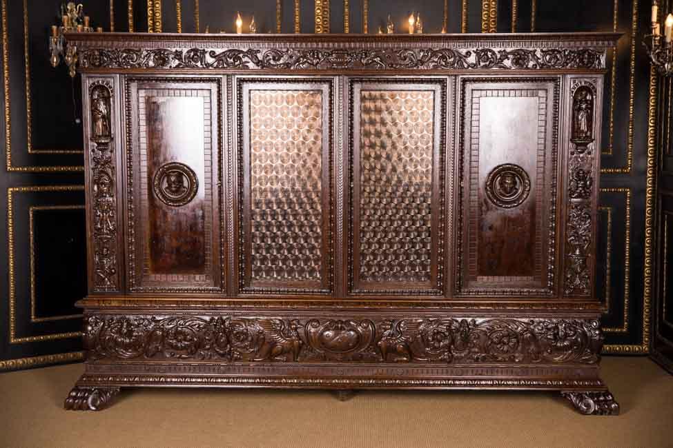 hochwertiger herrenzimmer bibliothek schrank um 1900 ebay. Black Bedroom Furniture Sets. Home Design Ideas